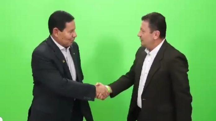 Coronel Usai com Vice Presidente Mourão